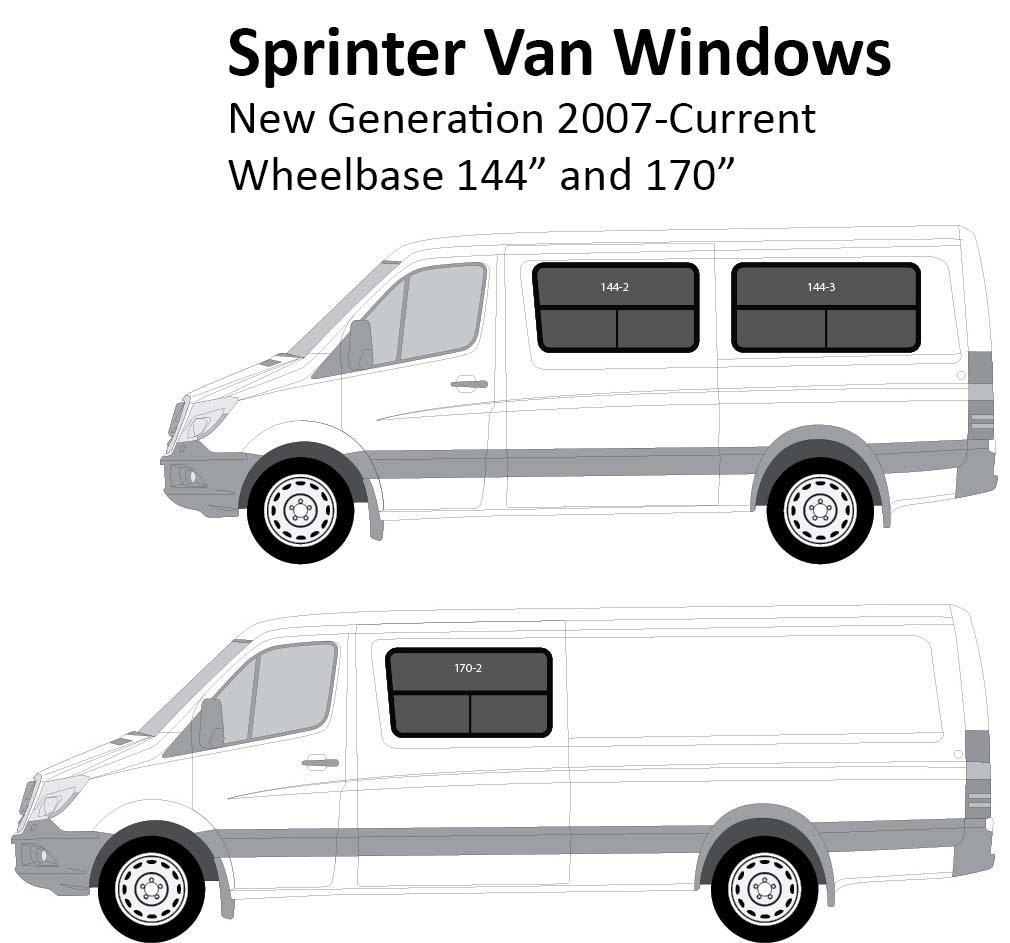 Sprinter Van Conversion Windows New Gen 2007 Current